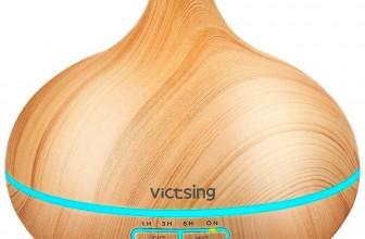 VicTsing Diffuseur d'huiles essentielles 300ml : un brumisateur design